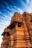 picture of kandariya mahadeva temple  - Kandariya Mahadeva Temple dedicated to Lord Shiva Western Temples of Khajuraho Madhya Pradesh India - JPG