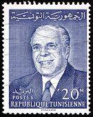 Postage Stamp Tunisia 1964 Habib Bourguiba, Statesman