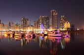 pic of emirates  - Sharjah Creek at night - JPG