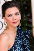 Maggie Gyllenhaal  at the 66th Annual Golden Globe Awards. Beverly Hilton Hotel, Beverly Hills, CA. 01-11-09