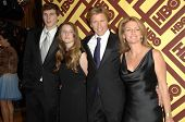 Denis Leary With Ann Lembeck and Family  at the HBO Golden Globe Awards After Party. Circa 55 Restaurant, Beverly Hills, CA. 01-11-09