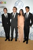 Christian Colson and Danny Boyle with Freida Pinto and Dev Patel at the 20th Annual Producers Guild Awards. Hollywood Palladium, Hollywood, CA. 01-24-09