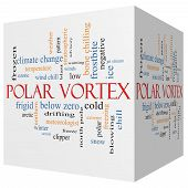 Polar Vortex 3D Cube Word Cloud Concept