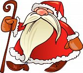 santa claus with walkingstick