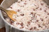 Boiled bean rice