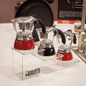 Bialetti Mocha Coffee Pots At Homi, Home International Show In Milan, Italy