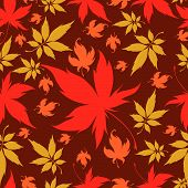 Seamless Background with colorful Autumn Leaves. Thanksgiving