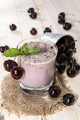 Fresh Made Cherry Smoothie