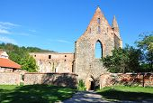 monastery ruins, villages - Dolni Kounice, Porta Coeli, Czech Republic, Europe