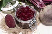 Beetrot On Wooden Background