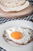 Fried Egg On Plate