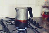 Espresso Maker On Stove