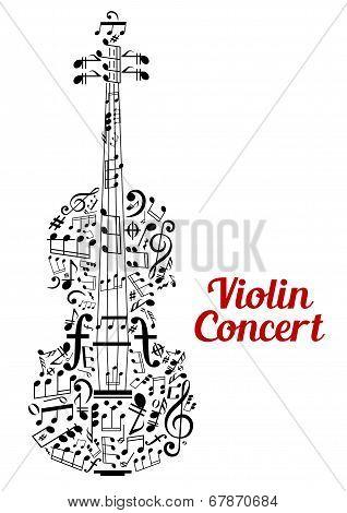 Creative violin concert poster design poster