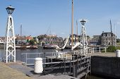 Netherlands - Lemmer - Media July 2014: Lemster Lock In The Port Of Lemmer In Friesland.