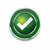 Tick Mark Circular Green Vector Web Button Icon
