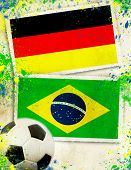 Germany vs Brazil soccer ball concept - semifinals