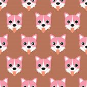 Seamless cute puppy dog shih tzu illustration background pattern in vector