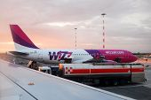Late Evening Wizzair At Rome Fiumicino Airport