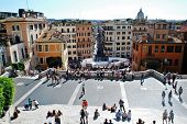 Tourists In Rome City Visiting Spanish Steps On May 29, 2014