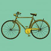 stock photo of yesteryear  - Cycle bike Moto motocycle retro vintage classic illustration - JPG