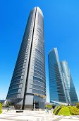 MADRID SPAIN-4 MAY: Cuatro torres financial center in Madrid on 4 May 2013.