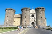 Tourist in Castle Nouvo in Naples on 16 Agoust 2013