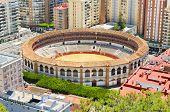 Bullring fight arena in Málaga Andalusia Spain.