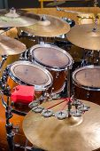 image of drum-kit  - A closeup take of a classic drum kit - JPG