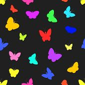 Seamless of butterflies.