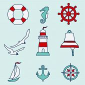 Pattern With Nautical Elements