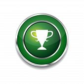 Cup Circular Vector Green Web Icon Button
