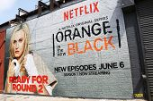 Netflix mural in Williamsburg section in Brooklyn