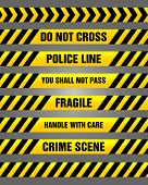 Caution tapes bundle - set of warning signs