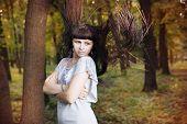 Autumn Beauty Woman Portrait