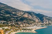 View Of Garavan - Menton - French Riviera