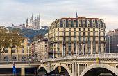 View Of Basilique Notre Dame De Fourviere In Lyon