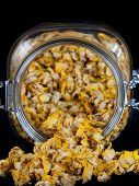 Jar Full Of Dried Mullein