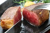 wagyu beef steak, japanese food