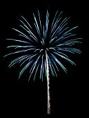 Cyan Fireworks Isolated