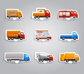 Truck paper stickers