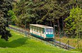 A Funicular Car In Prague