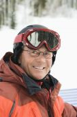 Portrait Of Smiling Male Skier