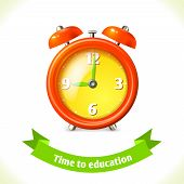 Education icon alarm clock