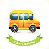 Education icon school bus