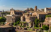 Romos Forumas As Seen From Palatine Hill, Rome, Italy