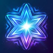 Abstract vector shining cosmic star