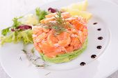 salmon tartar with avocado