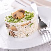 risotto with mushroom and parsley