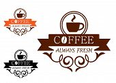 Coffee Always Fresh vector label