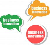 Business Innovation. Set Of Stickers, Labels, Tags. Template For Infographics